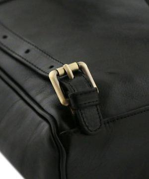 rucksack leder schwarz tuscany rucksack detail