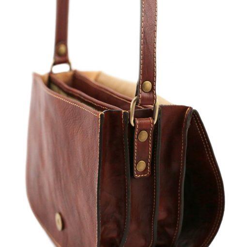 lederhandtasche braun italienische mode