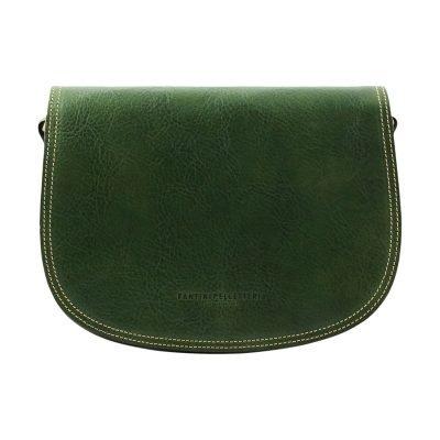 lederhandtasche grün