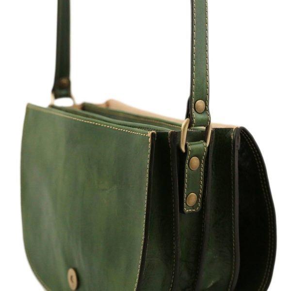 lederhandtasche grün italienische mode