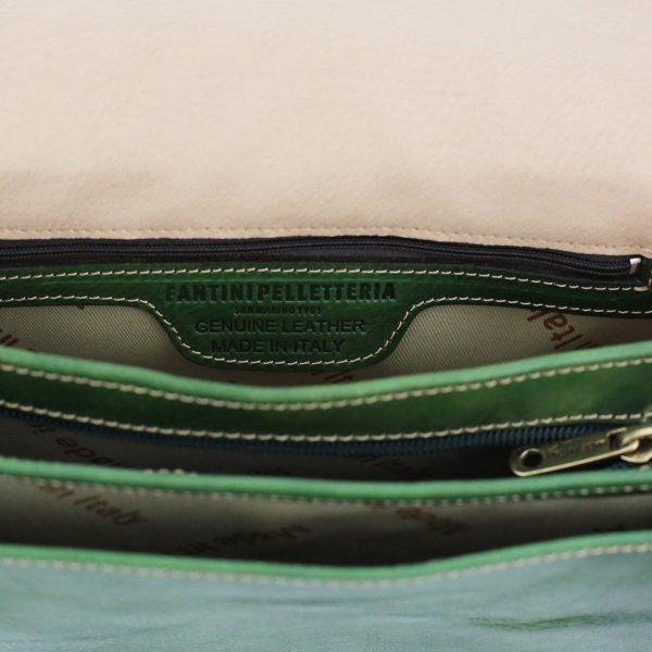 lederhandtasche grün made in italy
