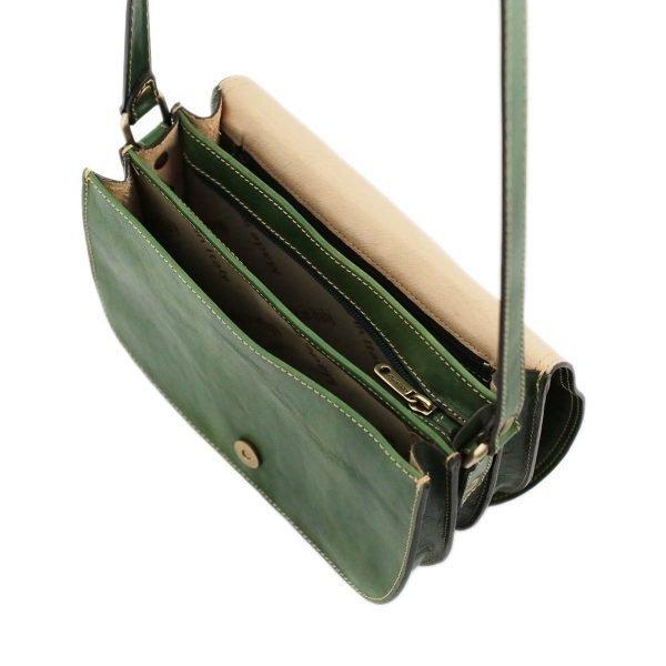 lederhandtasche grün schultertasche