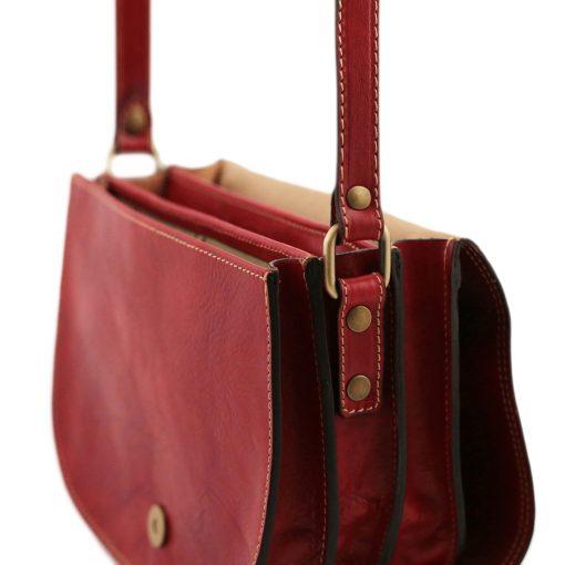 lederhandtasche rot italienische mode