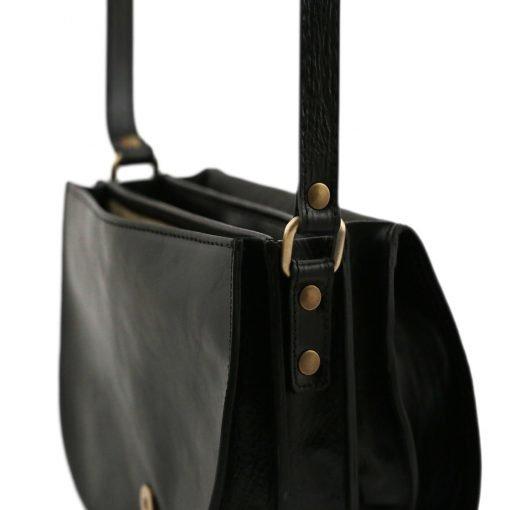 lederhandtasche schwarz italienische mode