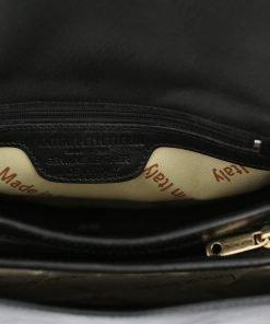 lederhandtasche schwarz made in italy