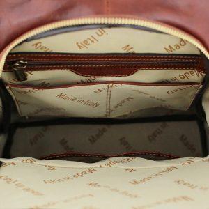 rucksack damen leder braun made in italy