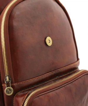 rucksack damen leder braun venezia