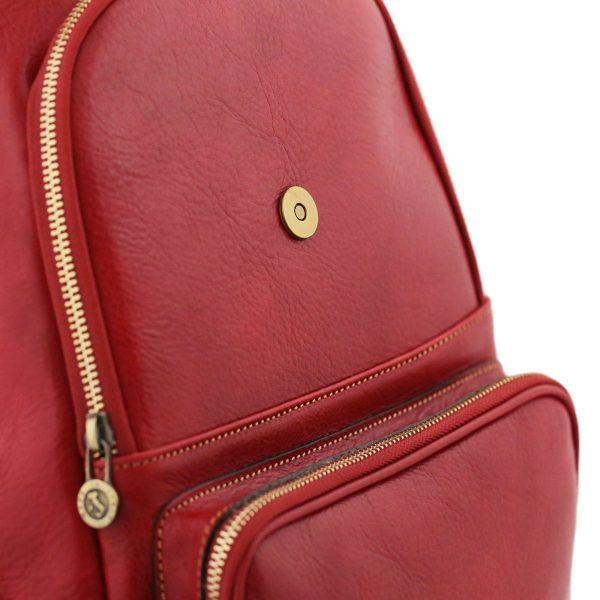 rucksack damen leder rot venezia