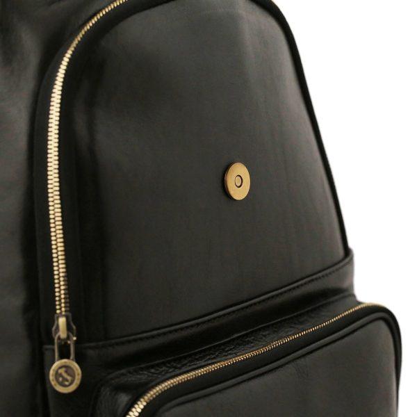 rucksack damen leder schwarz venezia