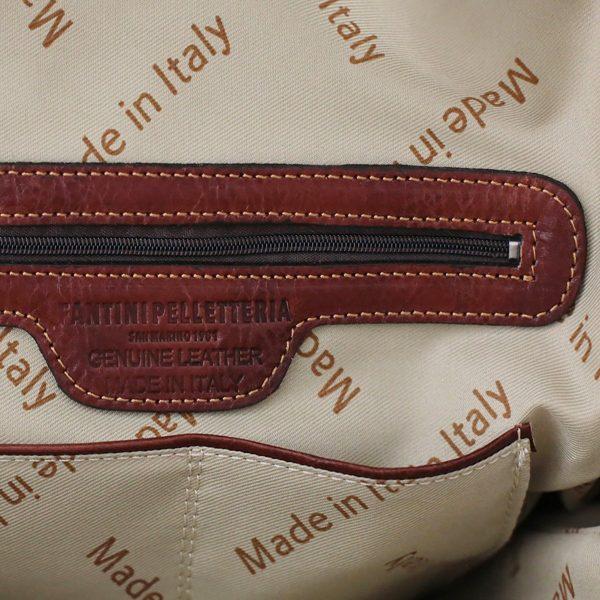 rucksack leder braun tuscany Italienische Mode