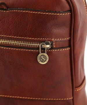 rucksack leder braun tuscany fantini lederwaren
