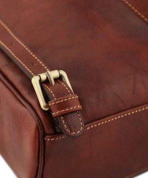 rucksack leder braun tuscany rucksack detail