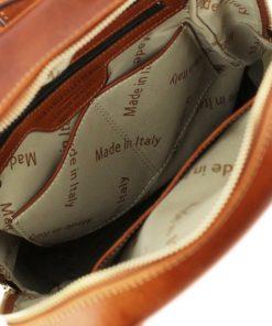 rucksack leder cognac tuscany innen lederrucksack