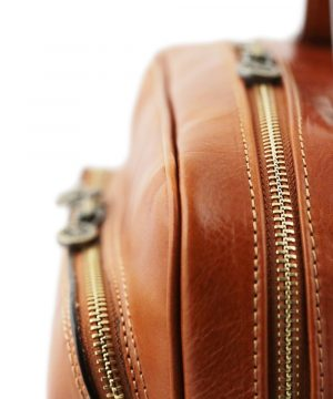 rucksack leder cognac tuscany reißverschluss