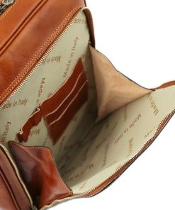 rucksack leder cognac tuscany vordertasche