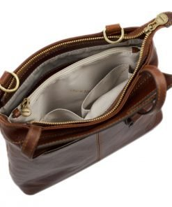 handtasche damen leder braun made in italy