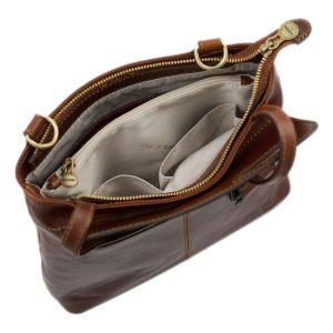 handtasche damen leder braun made in italy