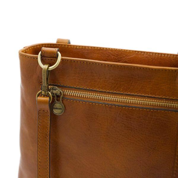 handtasche damen leder cognac schultertasche