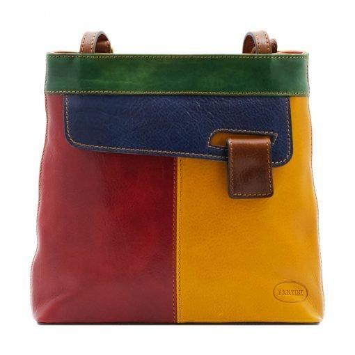 Rucksack Tasche leder Noemi mehrfarbig