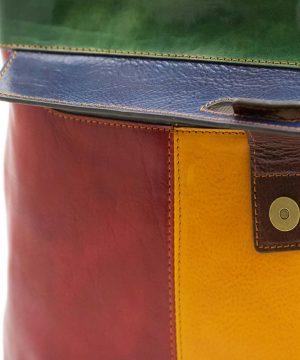 handtasche damen leder mehrfarben fantini