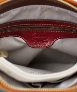 handtasche damen leder mehrfarbig innentasche