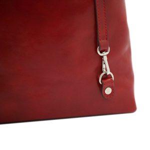 handtasche damen leder rot mode
