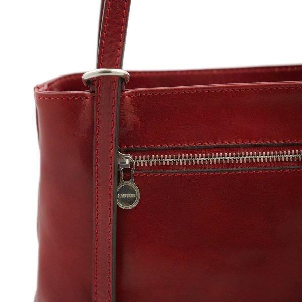 handtasche damen leder rot reißverschluss