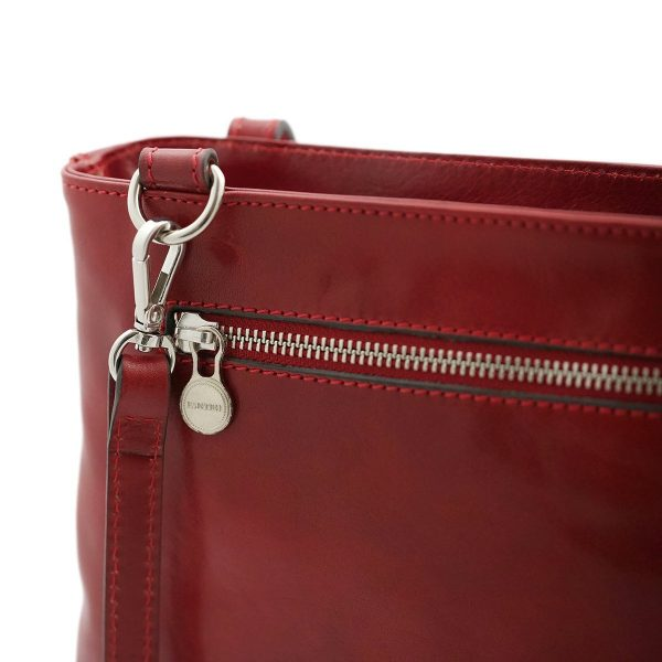 handtasche damen leder rot schultertasche