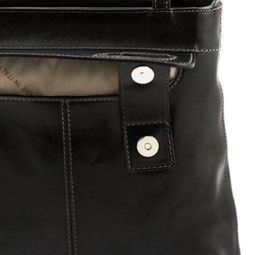 handtasche damen leder schwarz fantini