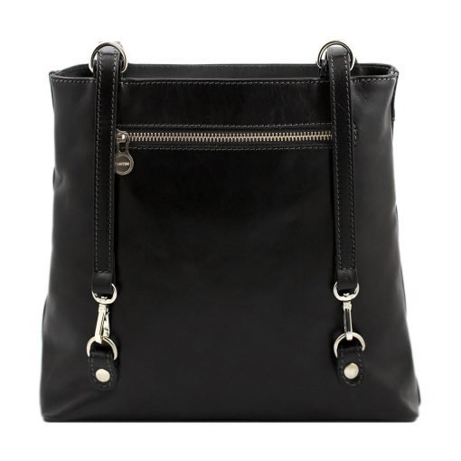 handtasche damen leder schwarz noemi