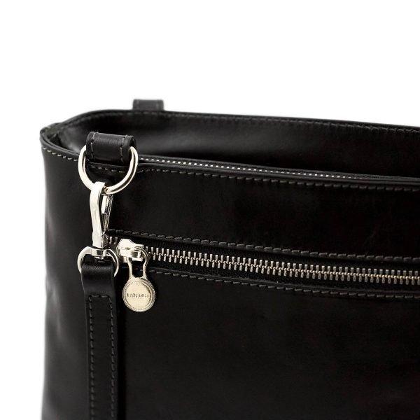 handtasche damen leder schwarz schultertasche