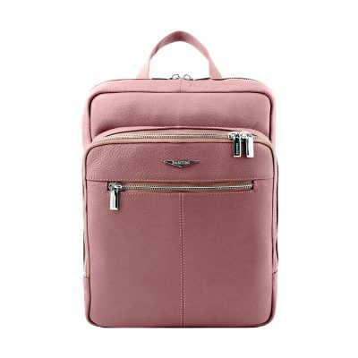 rucksack rosa leder