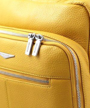 eleganter lederrucksack