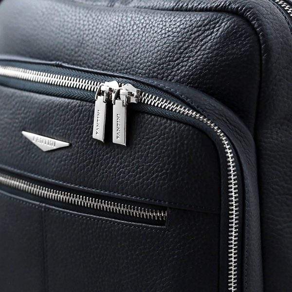 leder rucksack blau
