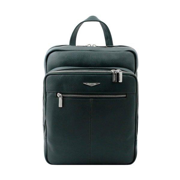 leder rucksack grün