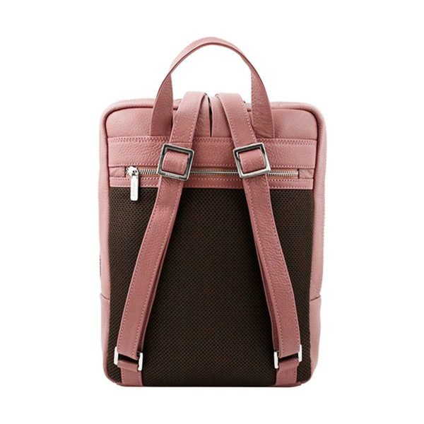 rosa leder rucksack