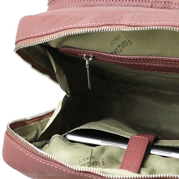 rucksack damen leder rosa