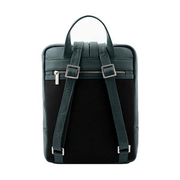 rucksack grün leder