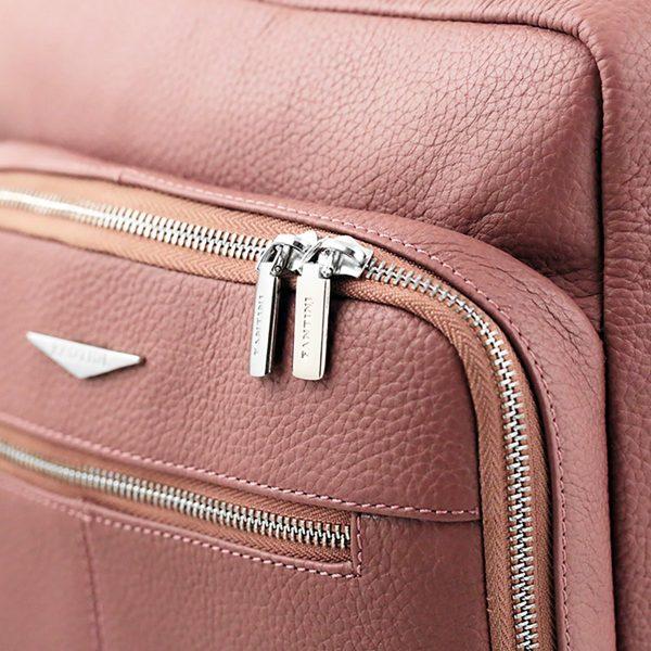 rucksack leder rosa